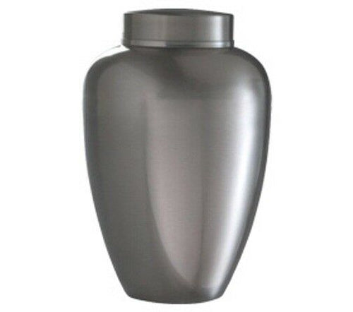 Silver Stainless Steel Vase 30 Cubic Inches Funeral Cremation Urn for Ashes