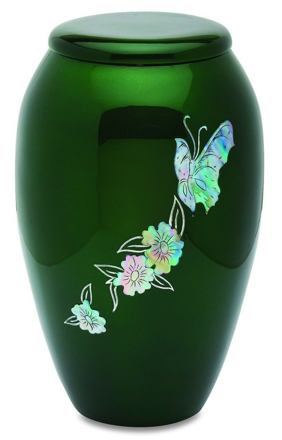Green Butterfly 210 Cubic Inches Large/Adult Funeral Cremation Urn for Ashes