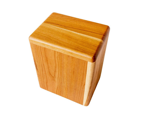 Large/Adult Artisan 280 Cubic Inches Wood Box Funeral Cremation Urn for Ashes