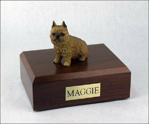 Brussels Griffon Pet Funeral Cremation Urn Avail. 3 Different Colors & 4 Sizes