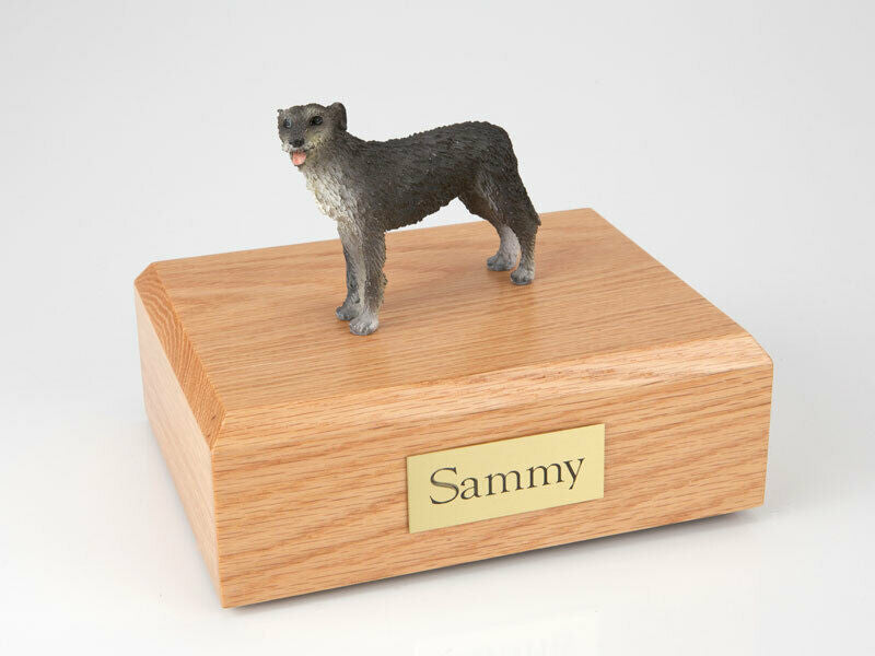 Irish Wolfhound Stand Pet Cremation Urn Available in 3 Diff. Colors & 4 Sizes