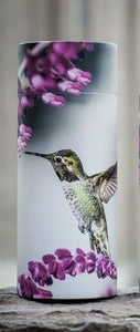 Small/Keepsake 90 Cubic Inch Hummingbird Scattering Tube Cremation Urn for Ashes