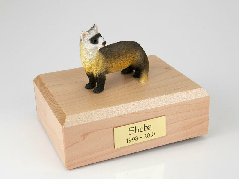 Ferret Figurine Wildlife Cremation Urn Available in 3 Different Colors & 4 Sizes