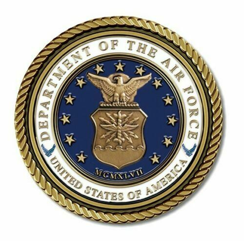 Air Force Medallion for Box Cremation Urn/Flag Case - 4 Inch Diameter