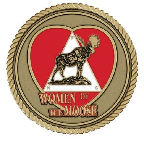 Women of the Moose Medallion for Box Cremation Urn/Flag Case - 2 Inch Diameter