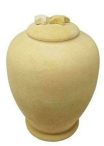 Large/Adult 220 Cubic Inch Biodegradable Beige Starfish Funeral Cremation Urn