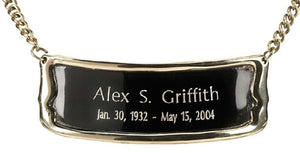 "Personalized Brushed Brass Name-Plate Medallion for 6""/7"" Size Cremation Urns"