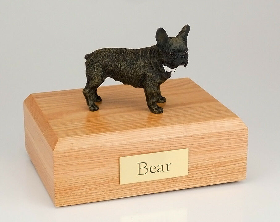 French Bull Pet Funeral Cremation Urn Available in 3 Different Colors & 4 Sizes