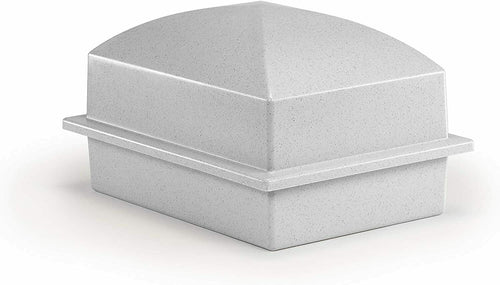Large/Adult Granite Colored Polymer Single Funeral Cremation Urn Burial Vault