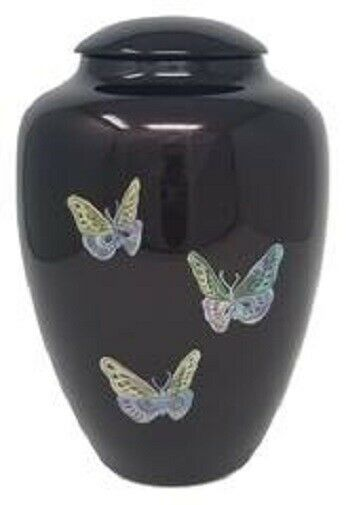 Large/Adult 200 Cubic Inch Fiber Glass Shell Art Butterfly Cremation Urn