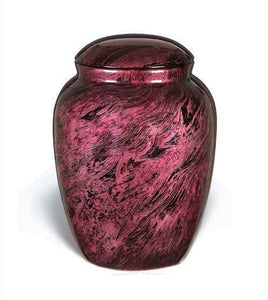 Large/Adult 210 Cubic Inch Fiber Glass Funeral Cremation Urn for Ashes - Pink
