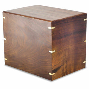 Extra-Large 350 Cubic Inch Windsor Brass/Wood Companion Cremation Urn for Ashes