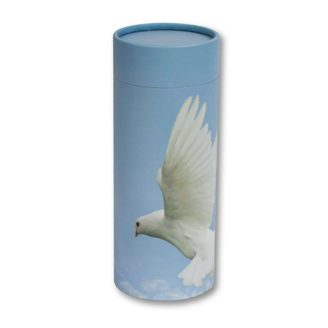 Biodegradable Eco-Friendly Adult Scattering Tube Cremation Urn, 200 Cubic Inches