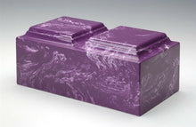 Classic Marble Amethyst Companion Cremation Urn, 420 Cubic Inches, TSA Approved