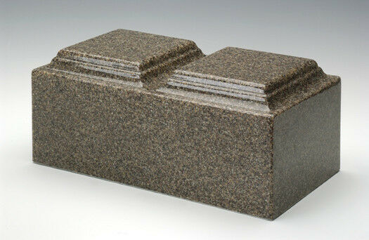 Classic Brown Granite Companion Cremation Urn, 420 Cubic Inches, TSA Approved