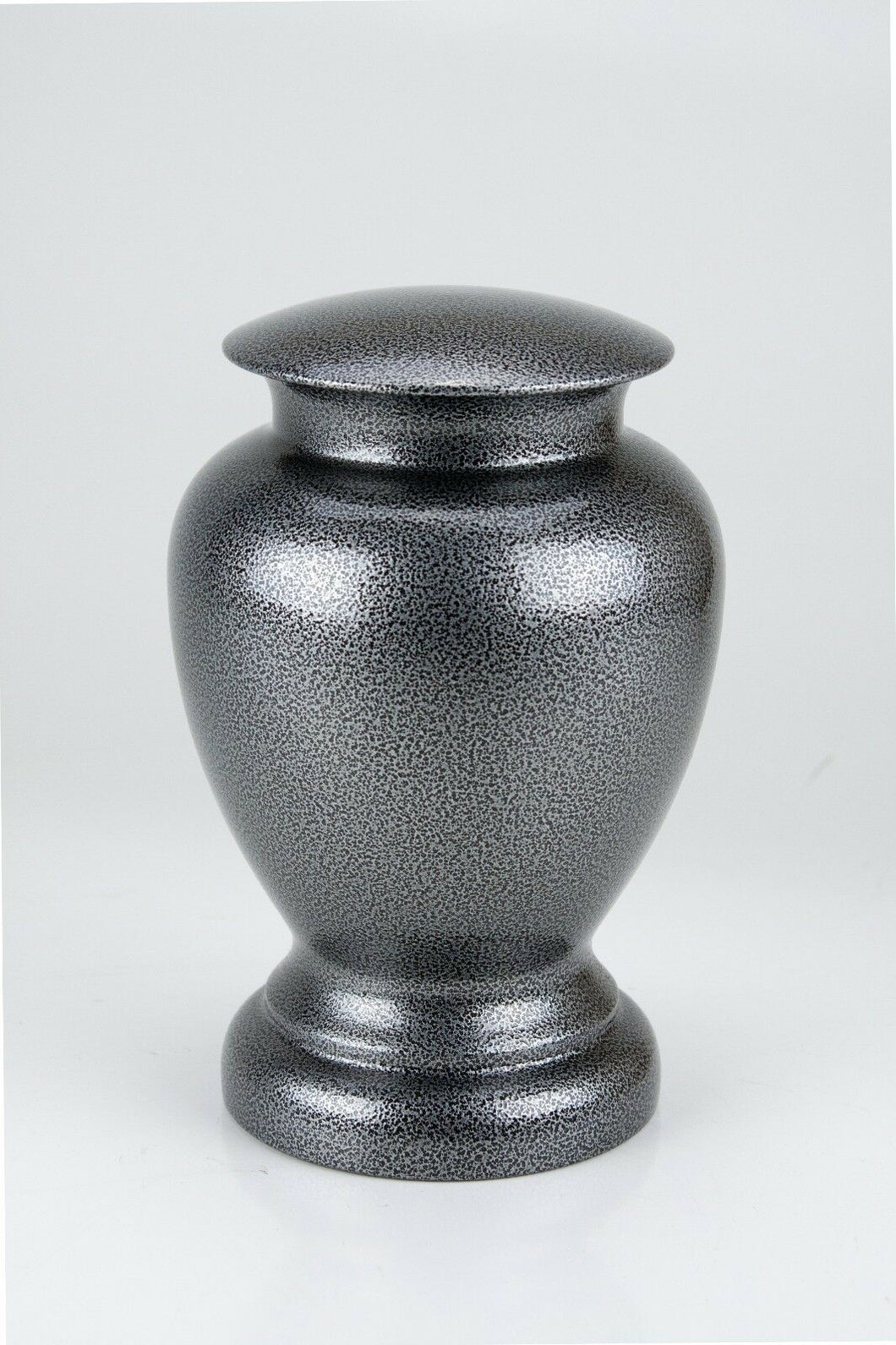 Small/Keepsake 50 Cubic Inches Silver Steel Vase Urn for Cremation Ashes