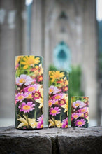 Load image into Gallery viewer, Set of Large, Med & Small Floral Design Scattering Tube Cremation Urns for Ashes