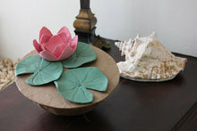 Load image into Gallery viewer, Biodegradable Lotus Urn, Hand Made Adult/Companion Funeral Cremation Urn