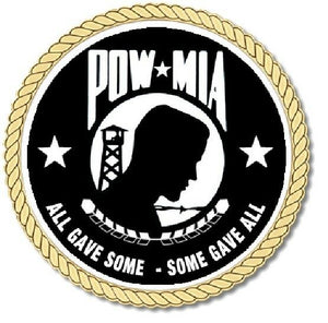 POW - MIA Medallion for Box Cremation Urn/Flag Case - 3 Inch Diameter
