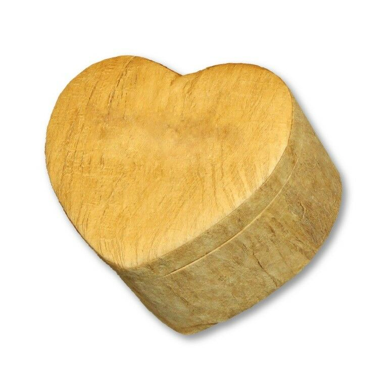Biodegradable, Eco-Friendly Wood-Grain Heart Keepsake Funeral Cremation Urn
