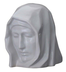 Extra-Large 311 Cubic Inch White Ceramic Holy Mother Funeral Cremation Urn