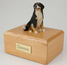 Load image into Gallery viewer, Bernese Mountain Dog Pet Funeral Cremation Urn Avail in 3 Diff Colors & 4 Sizes