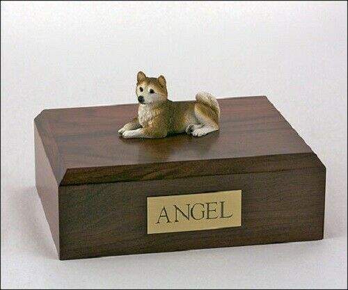 Husky, Red Stand Pet Cremation Urn Available in 3 Different Colors & 4 Sizes