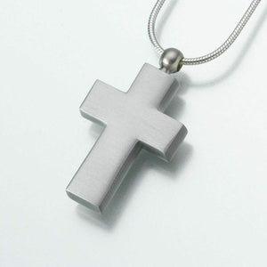 Pewter Cross Memorial Jewelry Pendant Funeral Cremation Urn