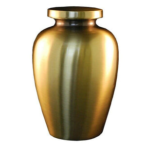 Large/Adult 205 Cubic Inch Antique Bronze Cretian Funeral Cremation Urn