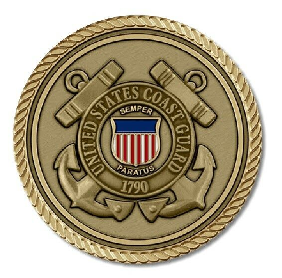 Coast Guard Medallion for Box Cremation Urn/Flag Case - 3 Inch Diameter