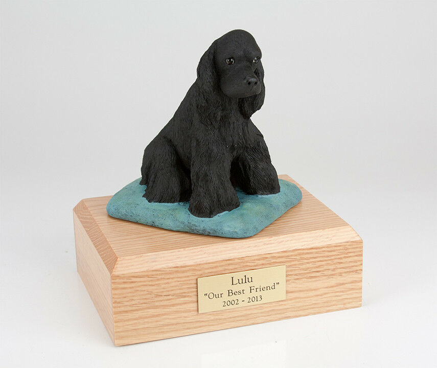 Black Cocker Pet Funeral Cremation Urn Available in 3 Diff Colors & 4 Sizes