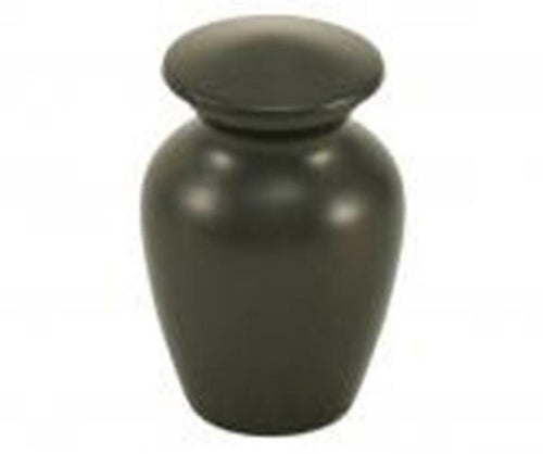 Small/Keepsake Brass Funeral Cremation Urn for ashes, 5 Cubic Inch - Black Slate
