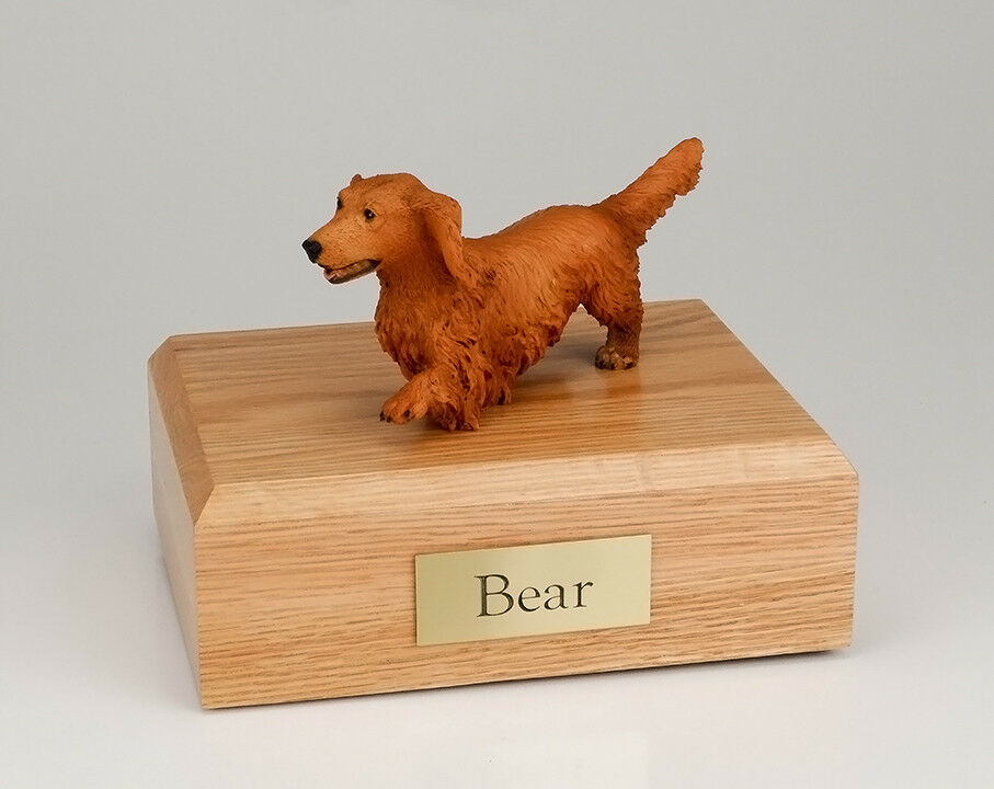 Walking Dachshund Pet Funeral Cremation Urn Avail in 3 Different Colors &4 Sizes