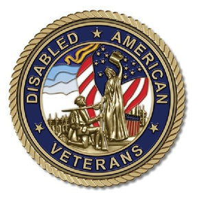 Disabled American Vet Medallion for Box Cremation Urn/Flag Case -2 Inch Diameter