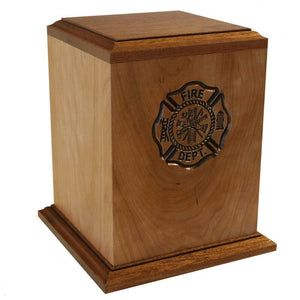 Large/Adult 225 Cubic Inch Firefighter Funeral Cremation Urn - Made in USA
