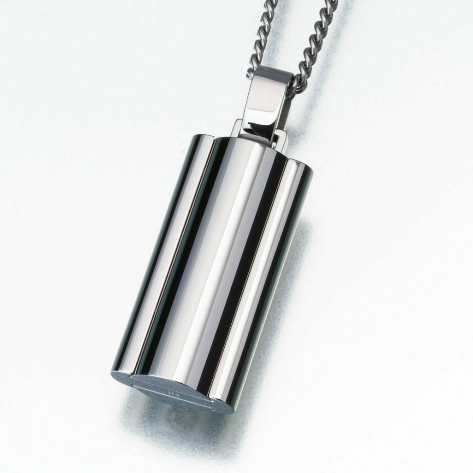 Stainless Steel Narrow Flask Memorial Jewelry Pendant Funeral Cremation Urn
