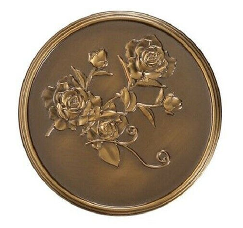 Howard Miller 800-167 (800167) 3 Inch Roses Medallion for Cremation Chest