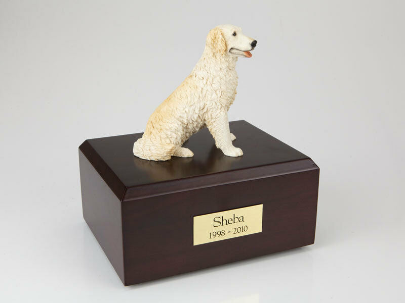 Golden Retriever Blond Pet Cremation Urn Available in 3 Diff Colors & 4 Sizes