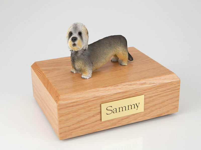 Dandie Dinmont Terrier Pet Funeral Cremation Urn Avail in 3 Dif Colors & 4 Sizes