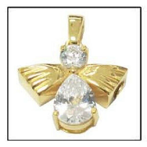 Angel of High 24k Gold Plated Sterling Silver Cremation Urn Pendant w/Chain