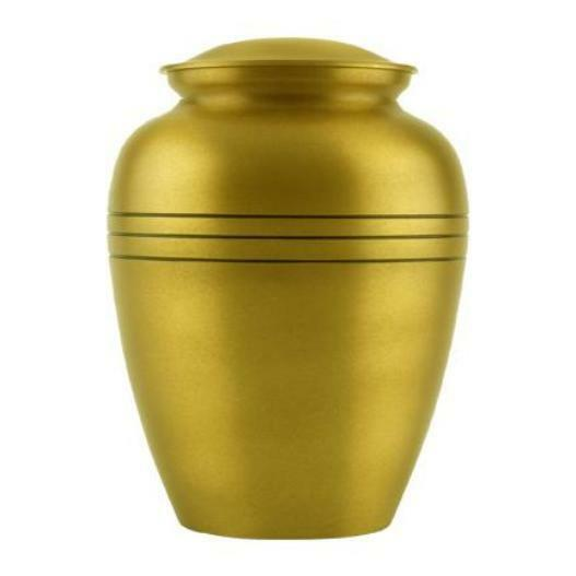 Small/Keepsake 87 Cubic Inches Classic Brass Funeral Cremation Urn for Ashes
