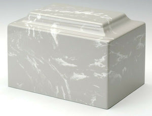 Classic Marble Light Gray Oversized 325 Cubic Inches Cremation Urn TSA Approved