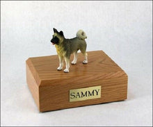 Akita Gray Pet Funeral Cremation Urn Available in 3 Different Colors & 4 Sizes