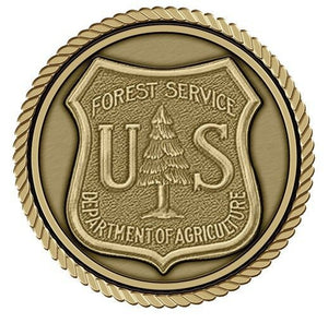 Forest Service Medallion for Box Cremation Urn/Flag Case - 4 Inch Diameter
