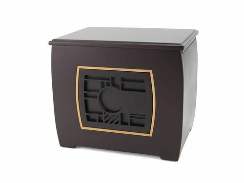 Extra-Large 400 Cubic Inch Modern Companion Geometric Funeral Cremation Urn