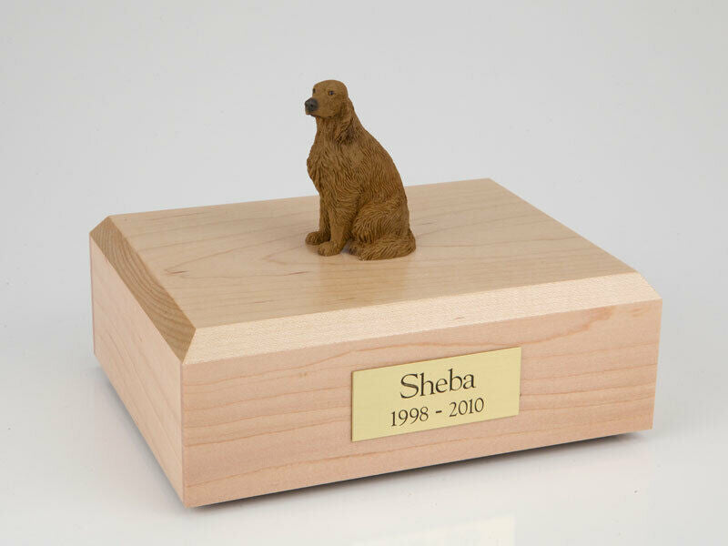 Irish Setter Sitting, Stand Pet Cremation Urn Avail. in 3 Diff Colors & 4 Sizes