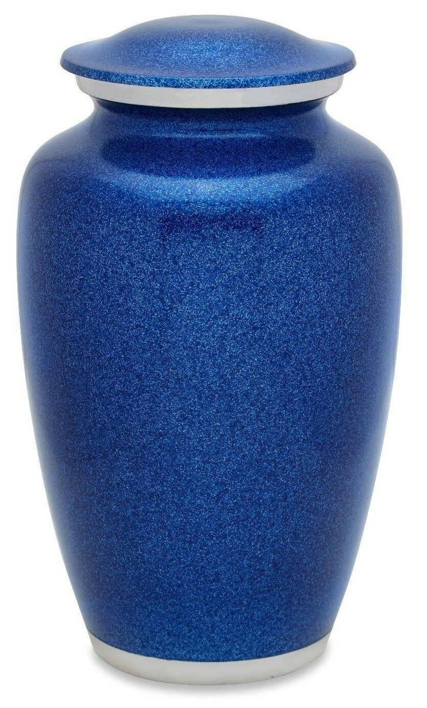 Blue 210 Cubic Inches Large/Adult Funeral Cremation Urn for Ashes