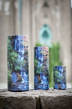 Set of Large, Med & Small Waterfall Scattering Tube Cremation Urns for Ashes