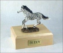 Load image into Gallery viewer, Horse Dapple Gray Figurine Funeral Cremation Urn Avail. 3 Diff. Colors & 4 Sizes