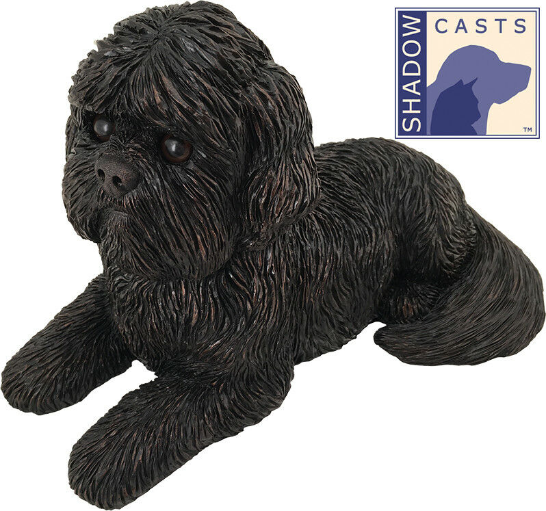Small/Keepsake 74 Cubic Ins Shih-Tzu ShadowCasts Bronze Urn for Cremation Ashes